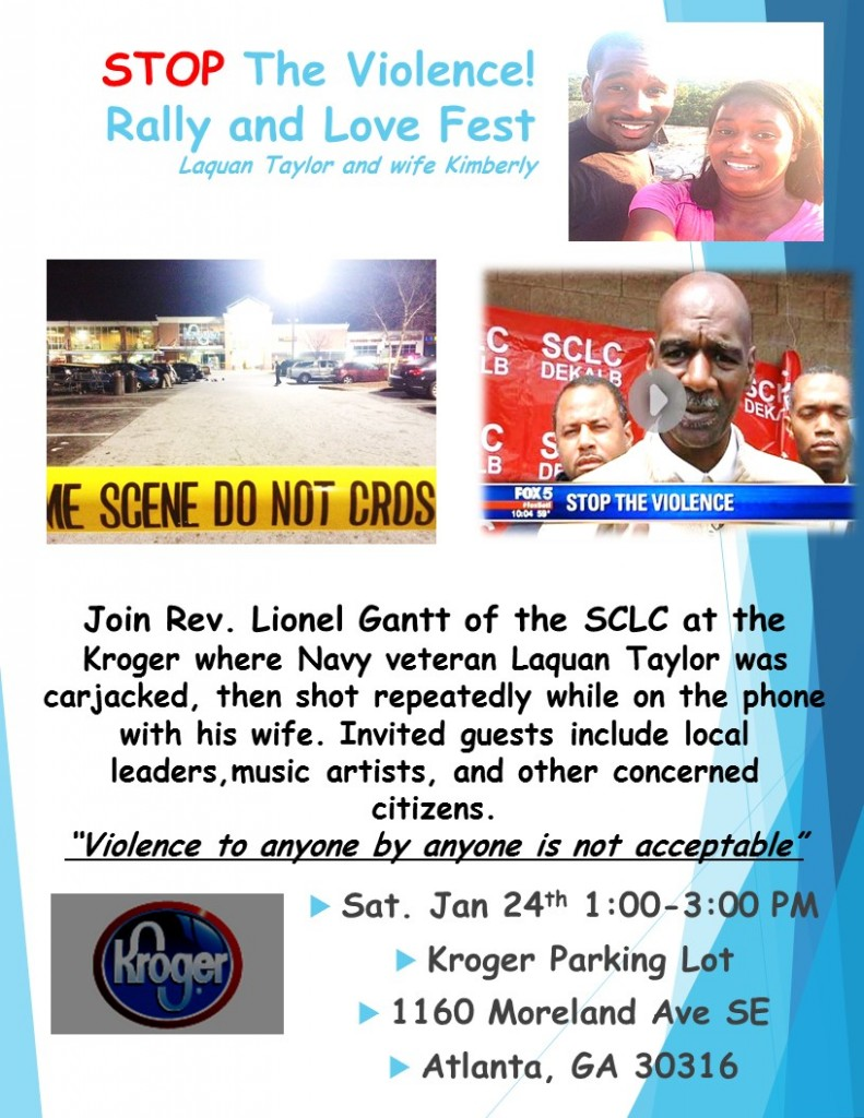 Stop the Violence Sat Jan. 21st 1pm to 3pm